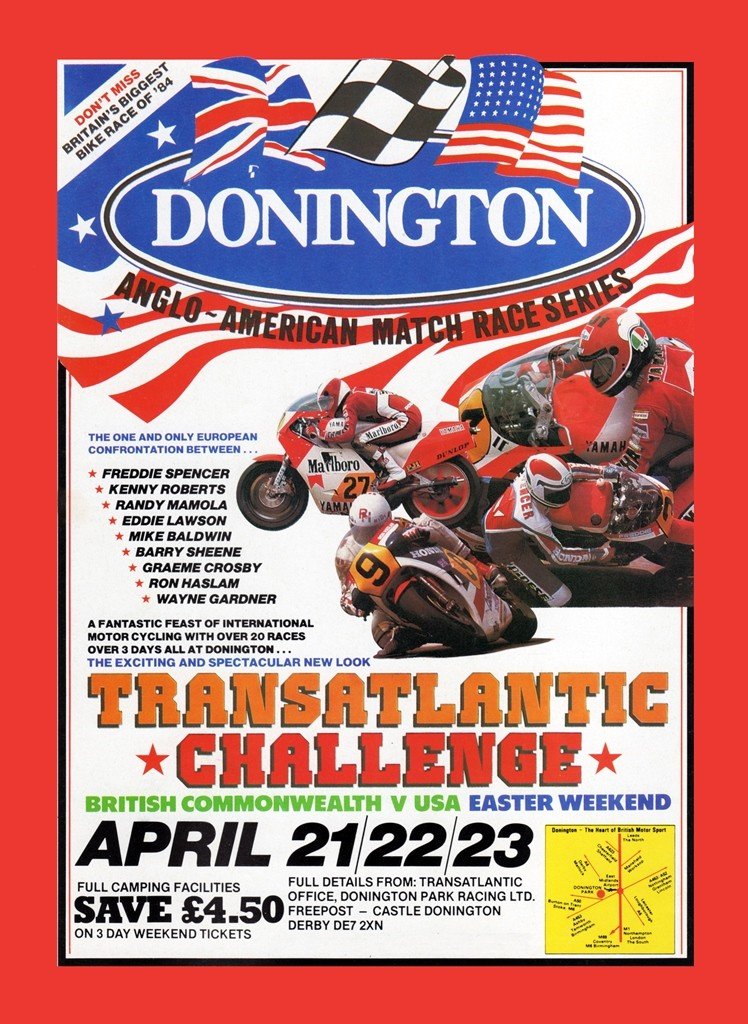 The poster promoting the 1984 Transatlantic Match Races. (Photo courtesy Peter Starr Productions)