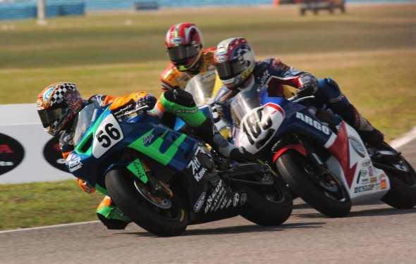 Tony Meiring, Scott Greenwood and Lee Acree - Daytona 600 Supersport - 2004