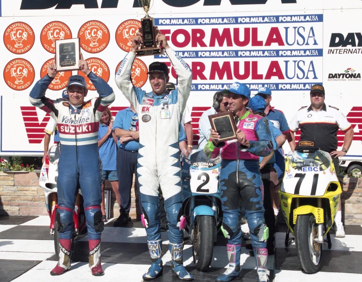 Formula USA podium from Daytona in October of 1996.