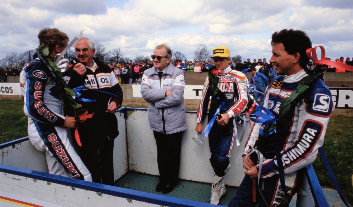 Kevin Schwantz Wayne Rainey and Gary Goodfellow