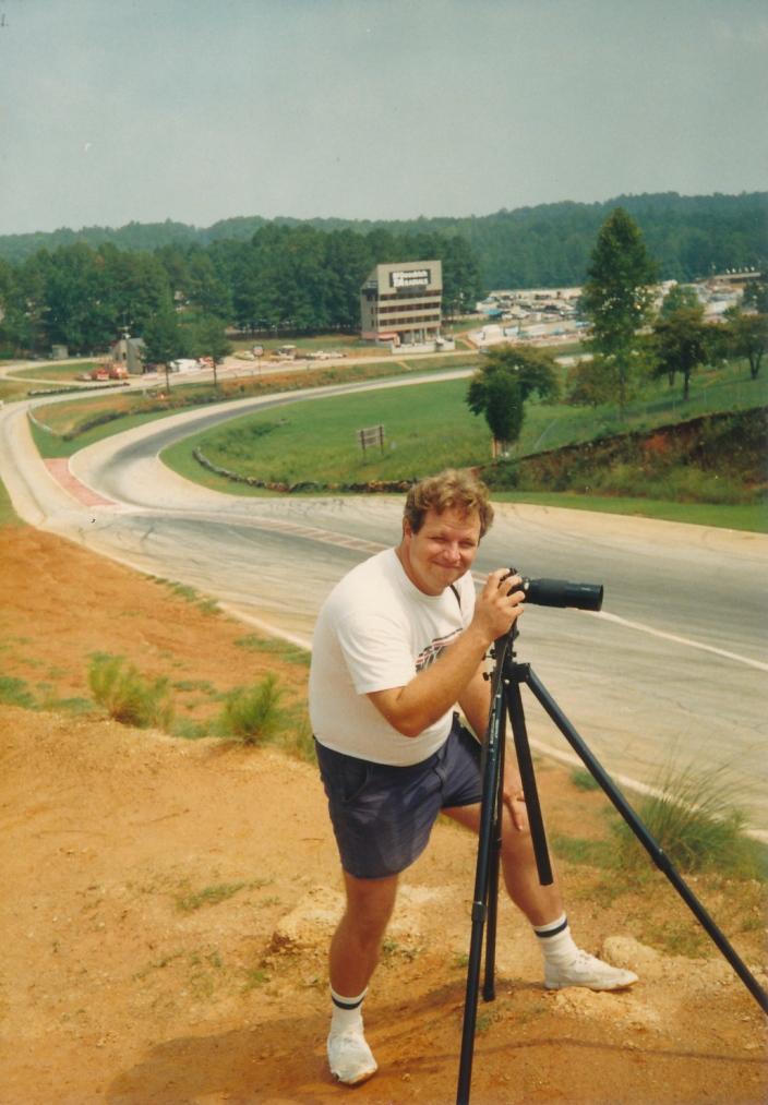 Randy Marrs shooting at Road Atlanta sometime in the 1980s.