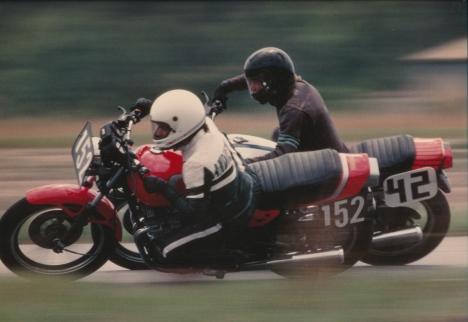 Tight club racing action.