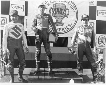 Endurance race winners Dave Schlosser, Kevin Rentzell and Lynn Miller at Road America.